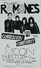 RAMONES / CORROSION OF CONFORMITY 1996 TALLAHASSEE, FLORIDA CONCERT TOUR POSTER