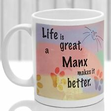 Manx cat mug, Manx cat gift, ideal present for cat lover