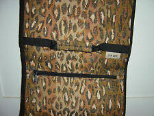 JADE FOLDING ROLLING SUIT CASE CARRY ALL LUGGAGE  LEOPARD PATTERN