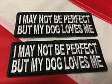 Morale Patch May Not Be perfect my dog loves me gift novelty FUN hat Uget 2 #909