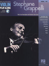 Stéphane Grappelli VIOLINO play-along Music Book/tracce di supporto audio Gypsy Jazz