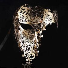 Phantom Halloween Half Skull Party Metal Filigree Venetian Masquerade Masks Ball