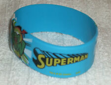 RUBBER WRISTBANDS *** SUPERMAN *** NEW - 25 cm - COLOUR BLUE/YELLOW/GREEN