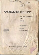 Volvo 121/122 1963 Original handbook Poor condition but complete