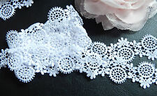 1 inch wide  white  vintage lace trim selling by the yard