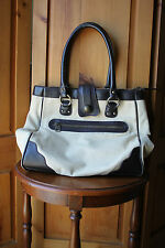 Gap Jeans Black Beige Canvas Tote Shoulder Bag Purse