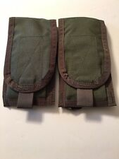 2 Pre-MSA Paraclete Double M4 Mag Pouch smoke green NEVER ISSUED!! YOU GET 2