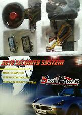 ANTIFURTO UNIVERSALE AUTO CAMPER FURGONI ALLARME-SIRENA+2 TELECOMANDI BLUE POWER