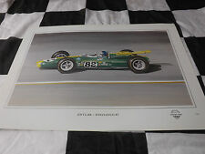 LOTUS 38 INDIANAPOLIS 500 INDY 500 JIM CLARK 1965 NEW PAINTING PRINT ART DUGAN +
