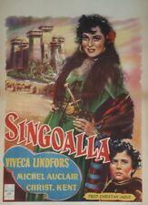 """""""SINGOALLA"""" Affichette belge entoilée 1949  (CHRISTIAN-JAQUE / Viveca LINDFORS)"""