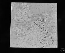 Glass Magic lantern slide MAP OF BRITAIN AND WESTERN EUROPE C1910