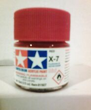 Tamiya acrylic paint X-7 Red. 10ml Mini