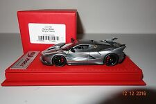 BBR FERRARI fxxk in grigio titanio cdl156 on Red Deluxe base 1:43