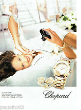 PUBLICITE ADVERTISING 096  2012  Chopard  collection montre femme Happy Diamonds