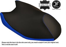 BLACK & R BLUE CUSTOM FITS YAMAHA AEROX YQ 50 2014-2016 FRONT LEATHER SEAT COVER