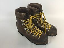 ASOLO SPORT  Vintage Brown Leather Mountaineering Boots Men's 9 1/2 M 9.5 A10