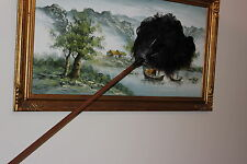 ONE  (1) HEAVY DUTY  2 PIECE CEILING OSTRICH FEATHER DUSTER 150CM =LARGE HEAD