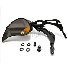 BLACK FLAME + TEARDROP REARVIEW MIRRORS FOR HARLEY SOFTAIL DYNA SPORTSTER XL 883