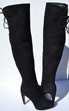 Sam Edelman Kayla Black Suede Over The Knee Boots Size 9
