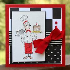 Pastry  Chef  (U get photo # 2) L@@K @ Examples  art impressions rubber stamps