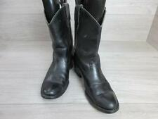 TEXAS STEER MENS WESTERN/COWBOY BOOTS SIZE UK 9 BLACK GOOD CONDITION CODE-EA3949