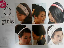 GIFTS FOR GIRLS hair accessories QUICK & EASY KNITS 6 knitting patterns