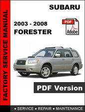 2003 - 2008 SUBARU FORESTER FACTORY OEM SERVICE REPAIR MANUAL + WIRING DIAGRAM