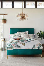 �� perfect gift �� Anthropologie APRILE Queen Duvet Cover slub cotton NWT