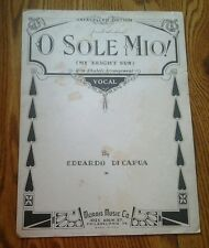 SHEET MUSIC O SOLO MIO MY BRIGHT SUN BY EDUARDO DI CAPUA 1916