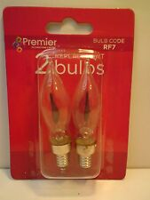 Premier RF7, 1 x Pack of 2 Clear Spare Christmas Flicker Light Bulbs, E10 mes