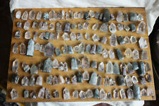 126 Pieces Natural Phantom Ghost Quartz Crystal Points Polished Healing Brazil