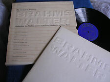 Bruno Walter/Orchestral Music of Brahms/Blue Label Columbia DSL-200/EX to M-