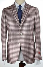 NWT ISAIA BLAZER Sailor jacket silk linen onion white checks handmade eu52 us 42