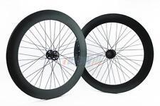RIDEWILL BIKE Coppia ruote scatto fisso pista profilo 70 mm nero opaco fixed
