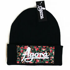 Agora Custom Floral Beanie Hat snapback 5 panel bulls NEW