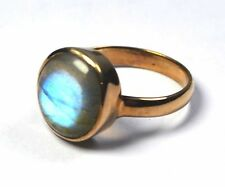 Labradorite Rose gold plated Ring Size6 925 Solid Silver Jewelry CCIRG-1335