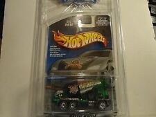Hot Wheels 2002 Final Run Green Spin Out Cement Mixer w/Real Riders