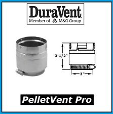 "DURAVENT PELLETVENT PRO Pipe 3"" Diameter Appliance Adapter #3PVP-ADS NEW!"