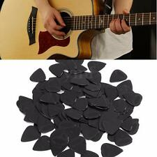 100Pcs Medium 0.71mm Blank Electric Guitar Picks Plectrum Celluloid Solid Black
