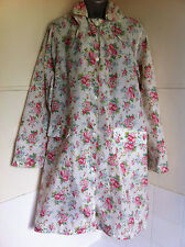 CATH KIDSTON showerproof red rose raincoat in bag detachable hoodM/L 14/16/18VGC