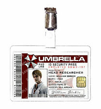 Resident Evil Umbrella Corp William Birkin ID Badge Cosplay Prop Comic Con