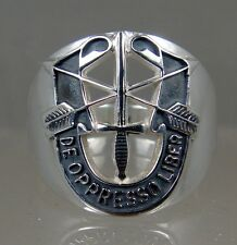 US Army Sterling Ring Jewelry Special Forces Mens DE OPPRESSO LIBER SIZE 9