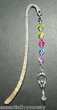 Handmade Crystal Silver Goddess Metal Bookmark Pagan Wicca UR CHOICE COLOR