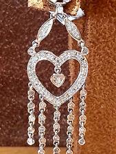 14K. white gold 0.62cts.Chandelier earring.Handmade!