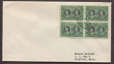 CANADA 1939 THREE ROYAL TRAIN FIRST DAY COVERS W/ BLOCKS OF FOUR ON EACH