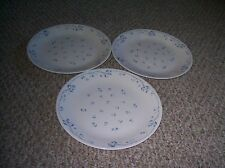 "3 CORNING CORELLE PROVINCIAL BLUE 10 1/4"" DINNER PLATES"