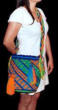 *** (SALE) Handmade Wayuu Mochila Women's Purse Cross Body HandBag Tote Colombia