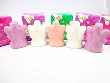 Avon set of 5 soaps Holiday angels shapes pink peach  NWB