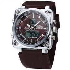 reloj digital de lujo de gran tamaño 30m de los hombres a prueba de agua Sport