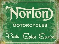 Norton Motorcycles, Parts Sales Service,Old Vintage Garage, Small Metal/Tin Sign